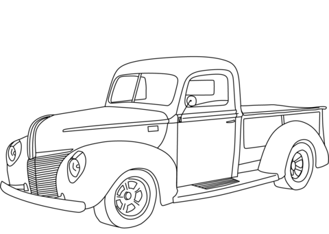 1940 Ford Pickup coloring page.