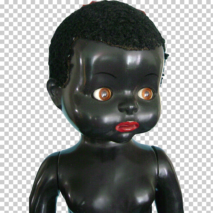 1940s Black doll Collectable Toy, children\'s toys PNG.
