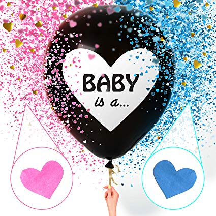 Sweet Baby Co. Jumbo 36 Inch Baby Gender Reveal Balloon.