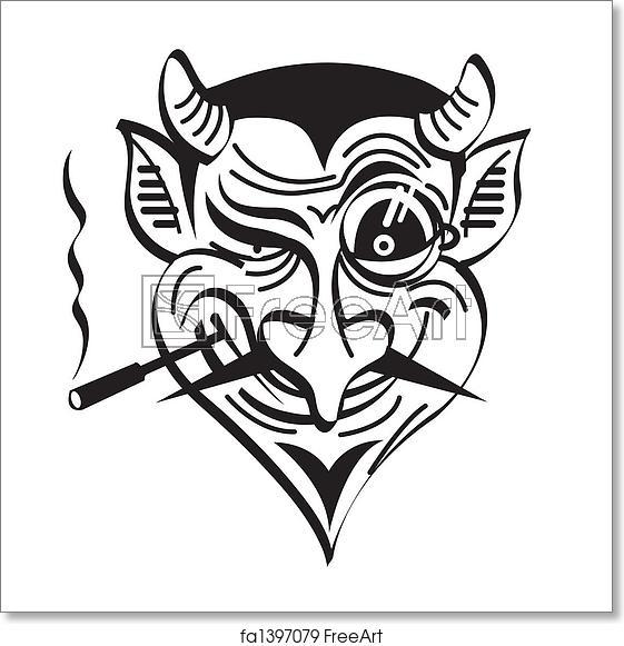 Free art print of Devil Satan Evil Clip Art Graphic.
