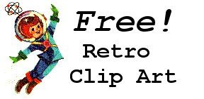 Free Retro Clip Art Images from the 1940's & 1950's for Blogs & More.