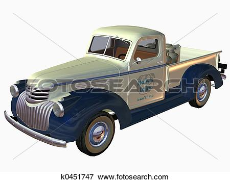 Stock Illustration of 1941 Pickup Truck k0451747.