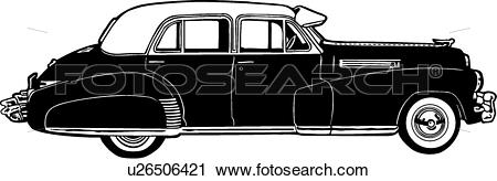 Clipart of , 1941, automobile, caddie, caddy, cadillac, car.