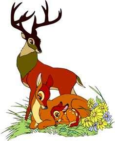 Stained glass of the Disney movie Bambi (1942). Screencaps used to.
