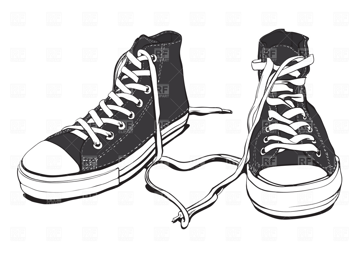 Sneakers With Lovely Heart Vector Image #1942.