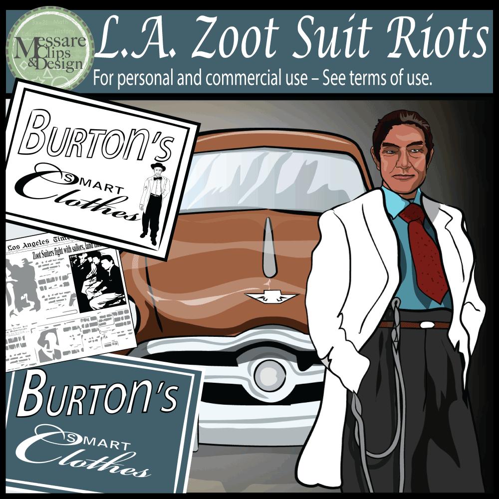 Zoot Suit Riot Clip Art.