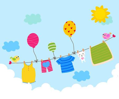 1,944 Clothesline Stock Vector Illustration And Royalty Free.