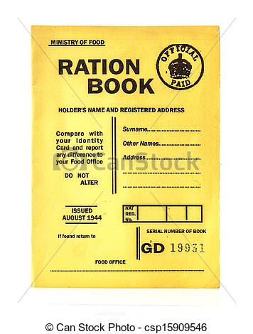 Stock Photo of 1944 war time ration book csp15909546.