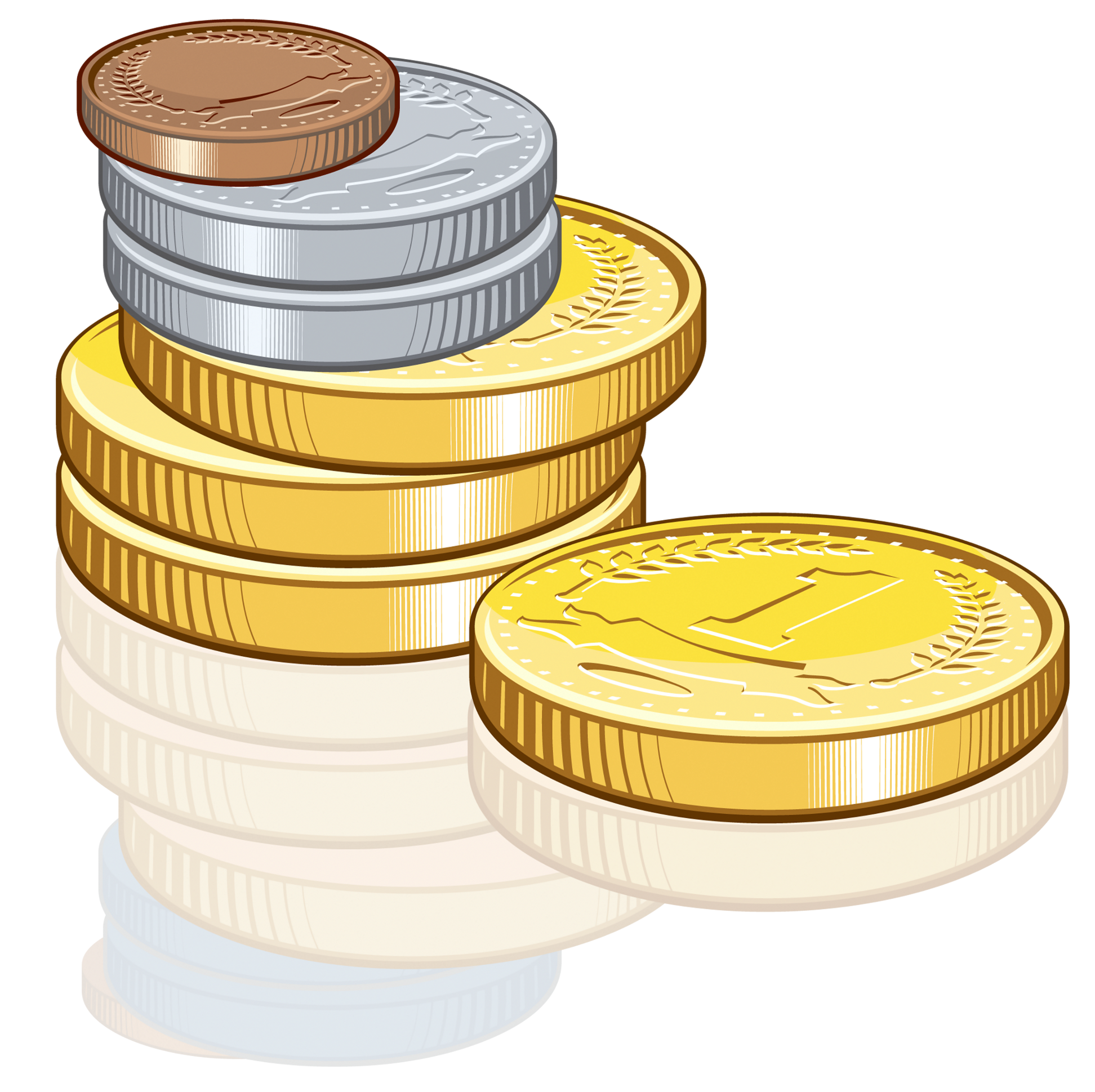 Money coins clipart - Clipground
