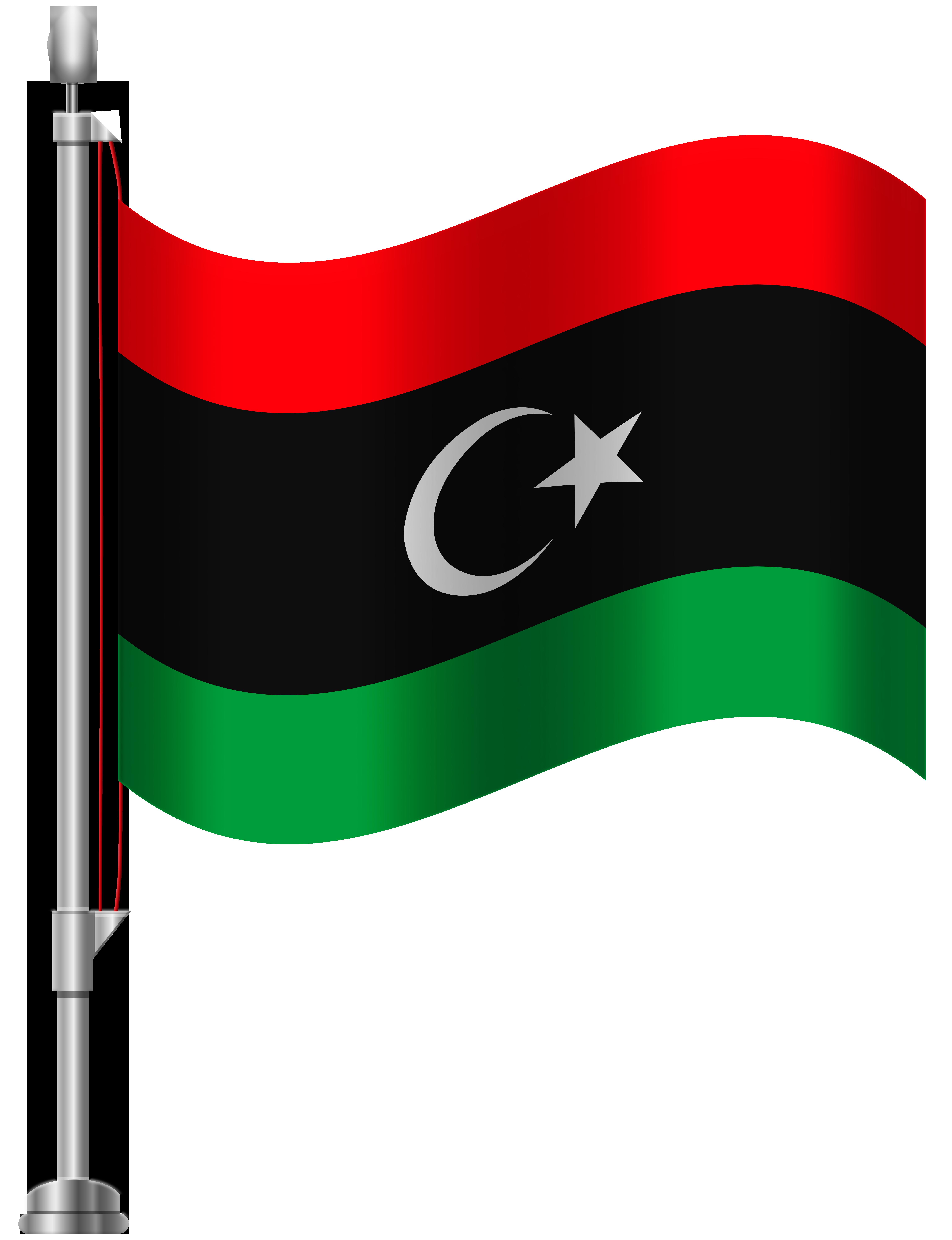 libya flag clipart #2