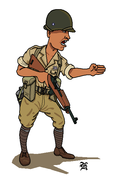 Wwii Army Soldier Clipart.