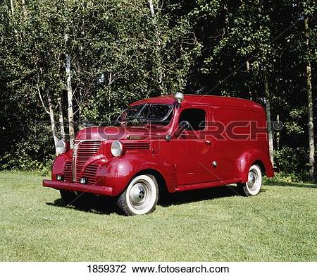 Stock Photo of Vintage 1946 Dodge Fargo Truck, Waterloo, Quebec.