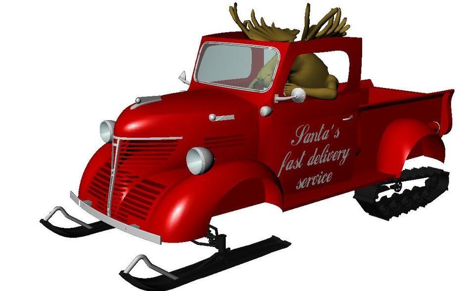 Santa's Dodge Fargo 1946.