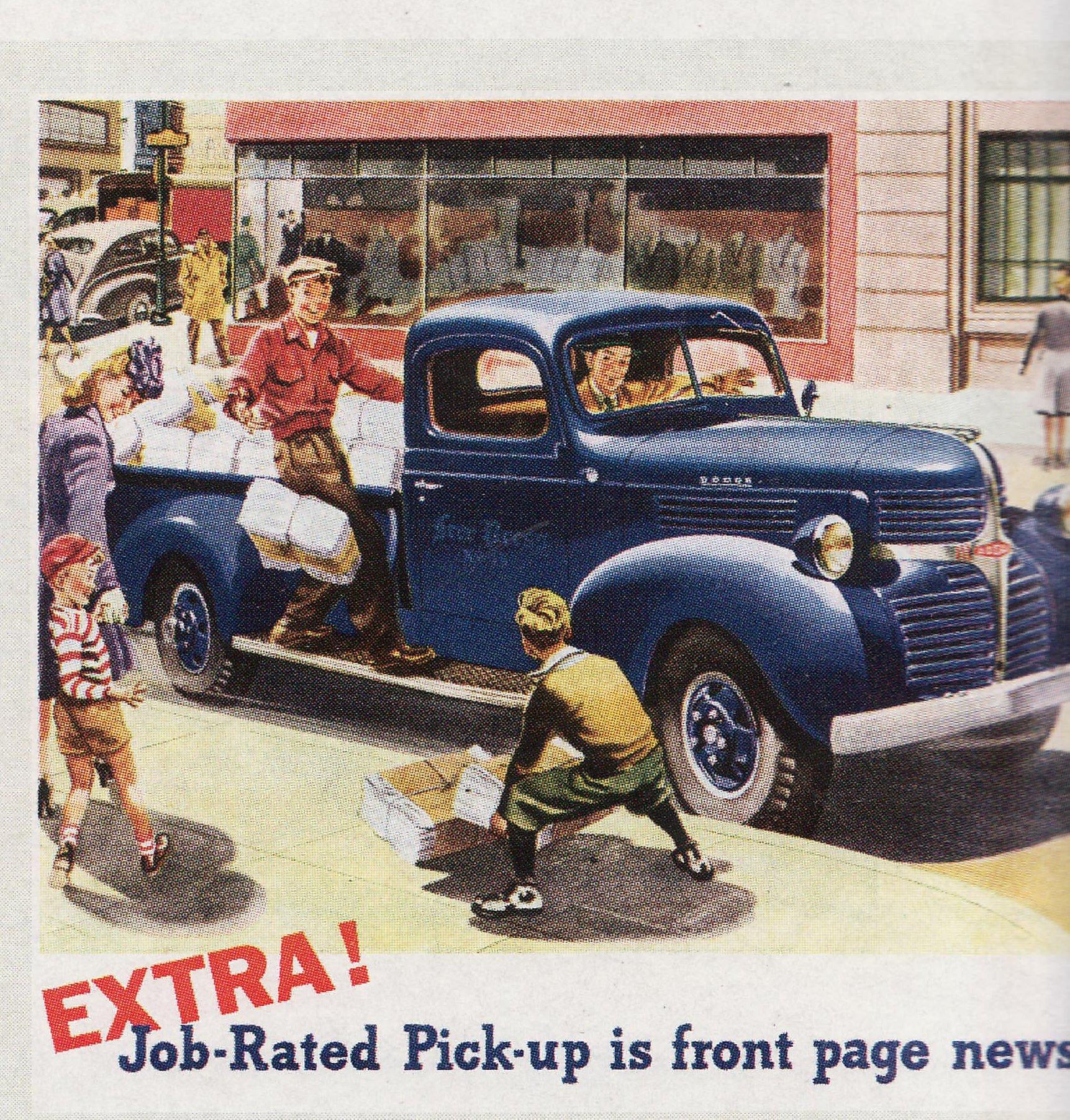 Vintage pickup truck ads.