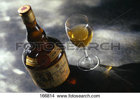 Stock Photo of Bottle of Commanderie Saint.