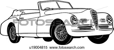 Clipart of , 1947, 2500, 6c, alpha, automobile, car, classic.