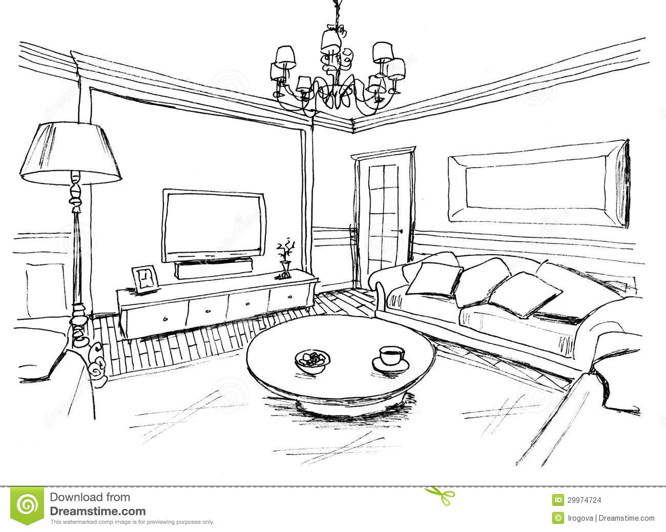 Living Room Clipart Black And White Awesome Ideas 1947 Bathroom.