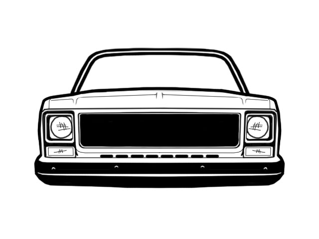 Chevy square body clipart.