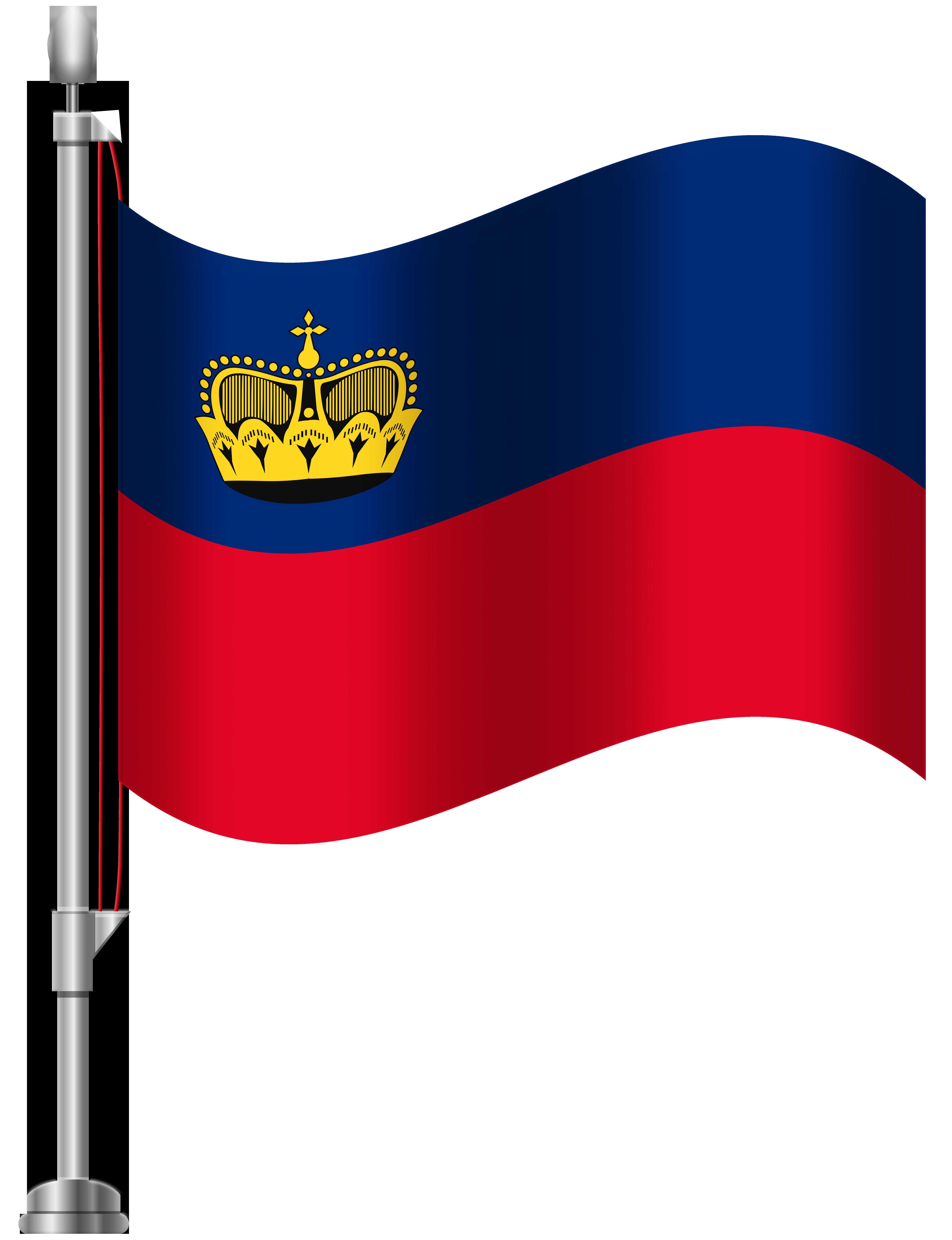 Liechtenstein Flag PNG Clip Art.