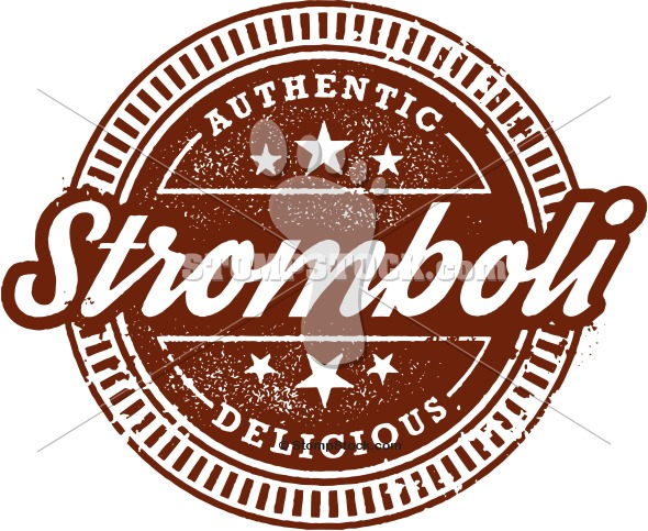 Authentic Italian Stromboli Clip Art.