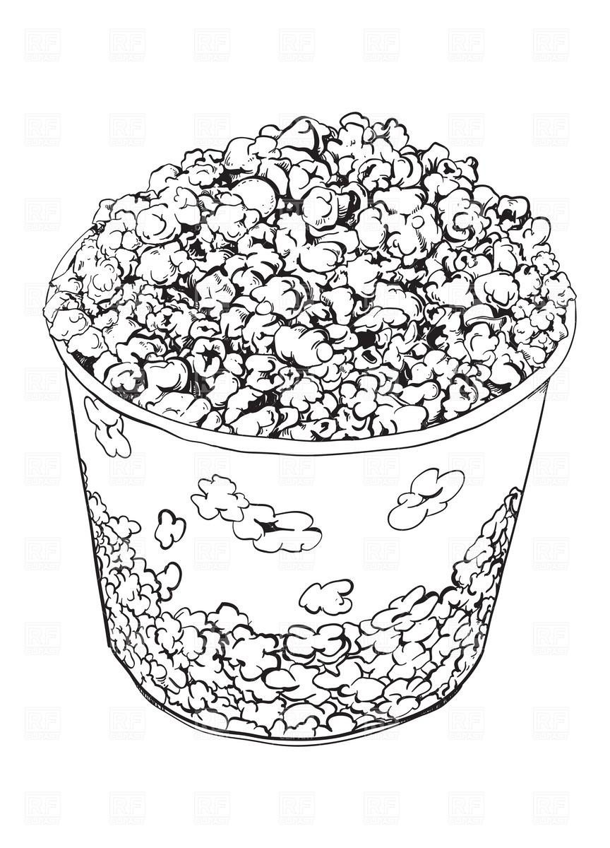 Popcorn Vector Image #1947.