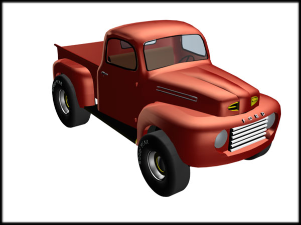 Old Ford Truck 4x4 Clipart.