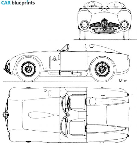 1948 Alfa Romeo 6C 3000 Targa blueprint.
