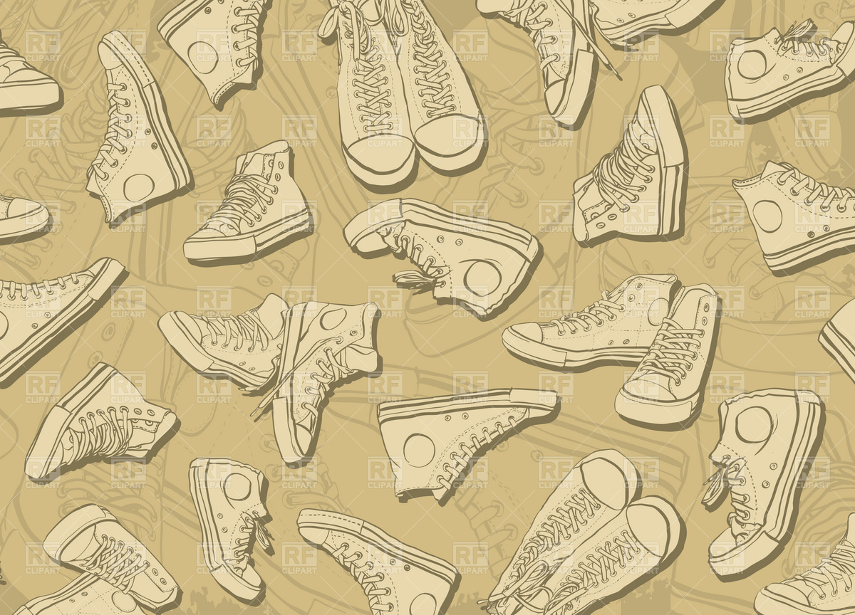 Sneakers Background Vector Image of Backgrounds, Textures, Abstract.