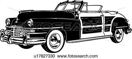 Clipart of , 1948, automobile, car, chrysler, classic, classic car.