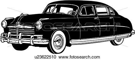 Clipart of , 1948, automobile, car, classic, commodore, hudson.