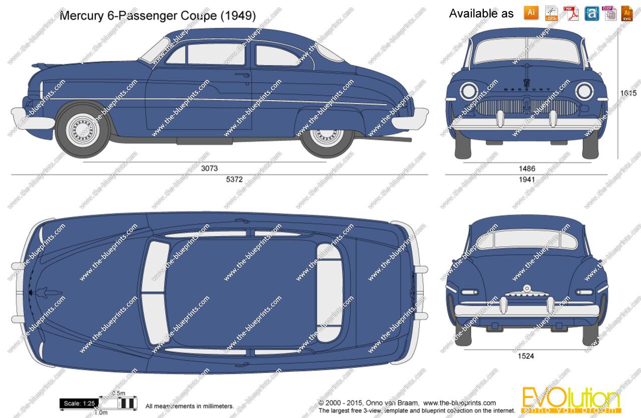 1949 mercury clipart.