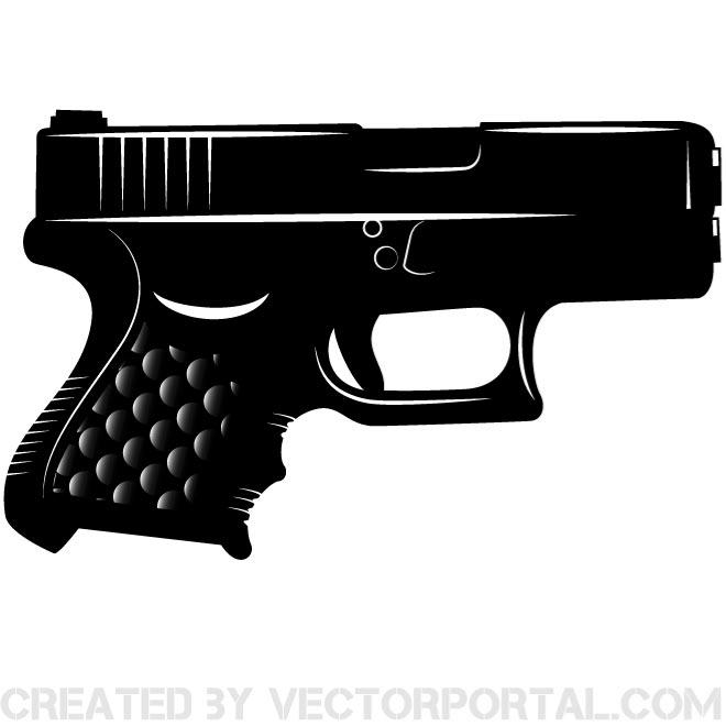 Pistol clipart black and white clipart images gallery for.