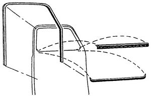 Details about 1947 1948 1949 1950 CHEVROLET & GMC TRUCK DOOR DELUXE WINDOW  FELT CHANNEL KIT.