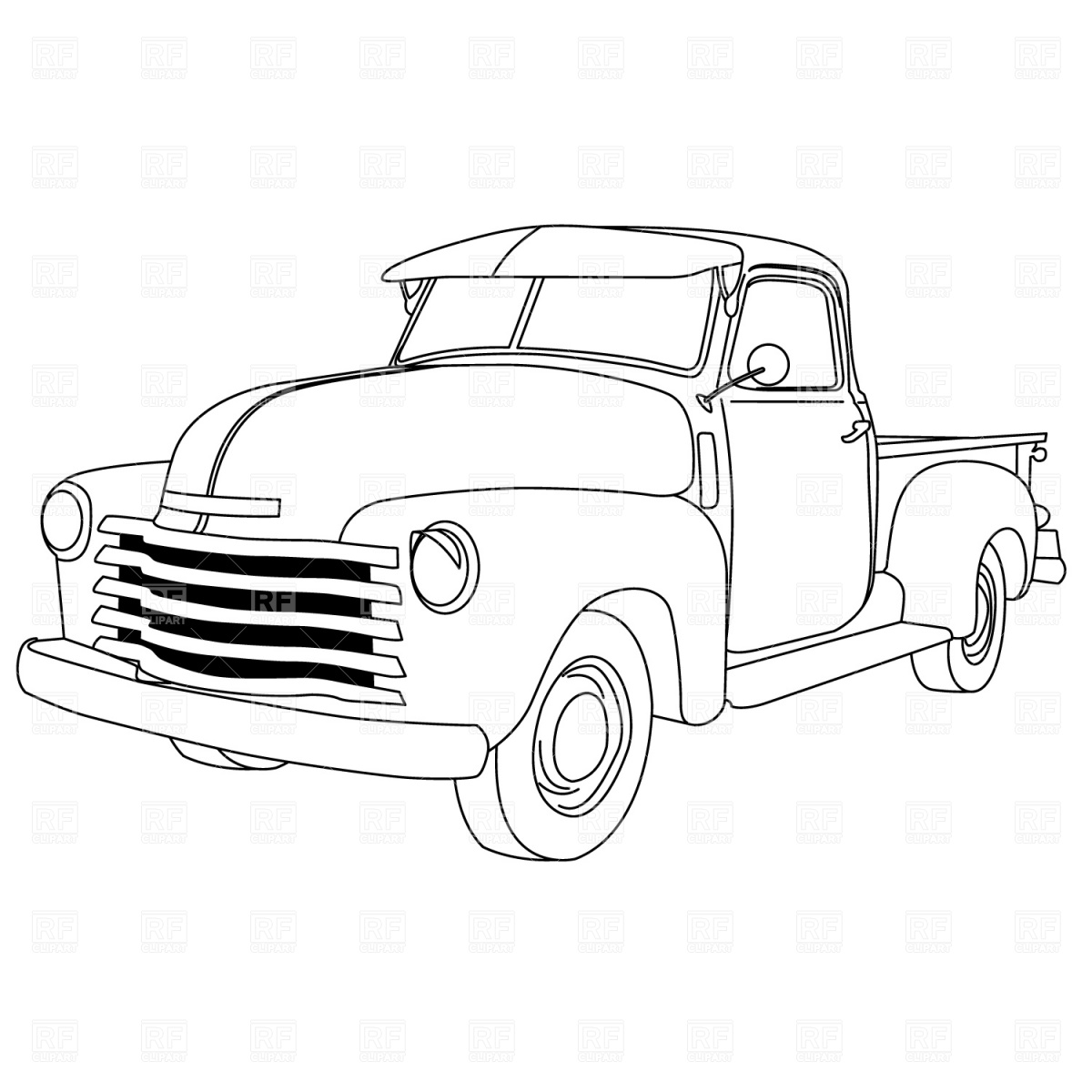 1950 Chevy Truck Silhouette.