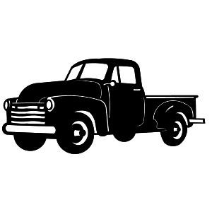 Old Chevy Truck Silhouette.