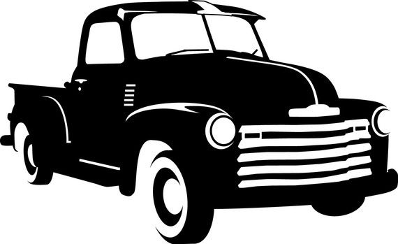 1950 Chevy Decal by TwinCreeksPhoto on Etsy, $7.00.