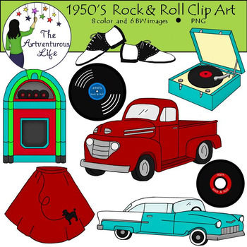 1950s Rock and Roll Clip Art.