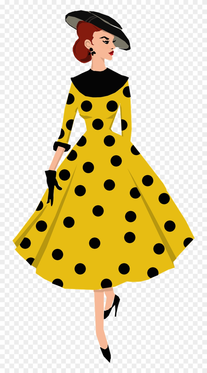 1950\'s Style Fashion Illustration For Fanantique Copyright.