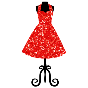 Ruby 1950s Vintage Dress clipart, cliparts of Ruby 1950s.
