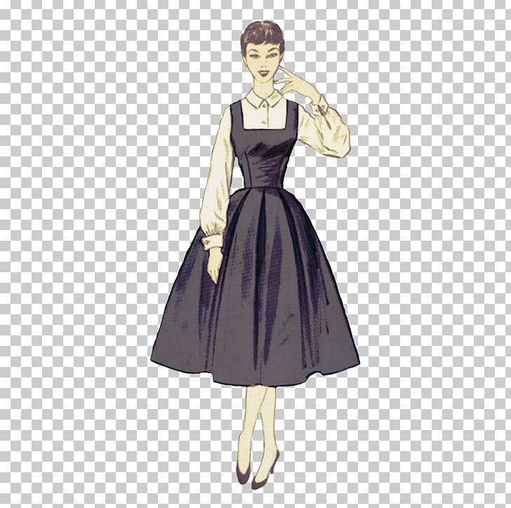 Digital Scrapbooking 1950s Girl Dress PNG, Clipart, 1950 S.