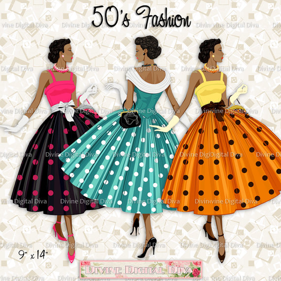 12 Ladies of Color 50s Fashion Polka Dot Dress.