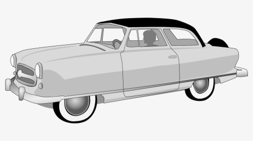 1950s Classic Car Clip Art.