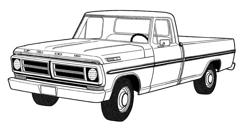 Pics For > Pickup Truck Clipart Outline.