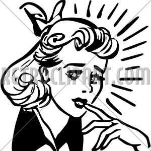 1950 frightened woman clipart clipart images gallery for.