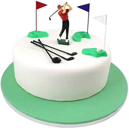 PME GS010 Set Cake Topper Golf Decorations/Plastic Figures, 13.