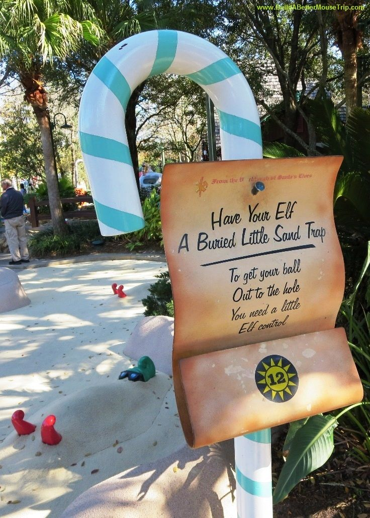 One of the signs at the Winter Summerland Miniature Golf.