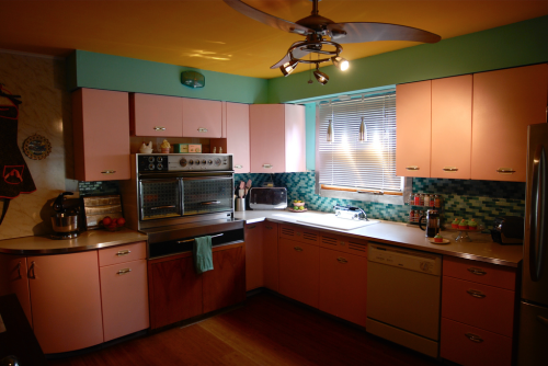1950s kitchen.