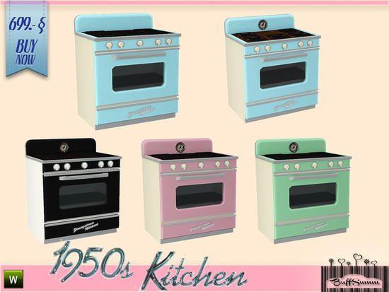 BuffSumm\'s 1950s Kitchen Stove.