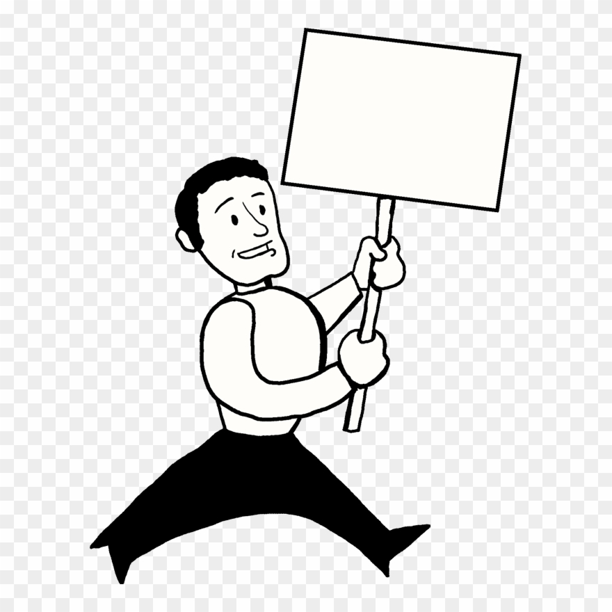 Holding sign clipart clipart images gallery for free.