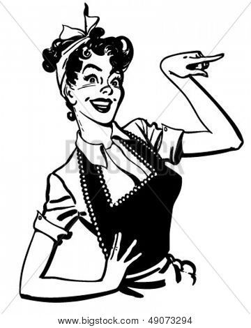 1950s Housewife Drawing.